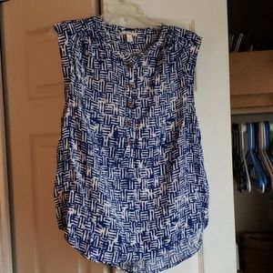 Ella Moss Cap Sleeve Blouse Large